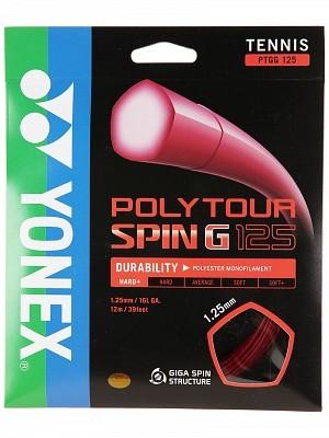 Струны для тенниса Yonex Poly Tour Spin G Dark Red (200m)