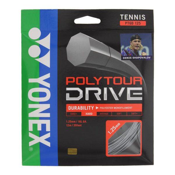 Струны для тенниса Yonex Poly Tour Drive (Silver, 200m)