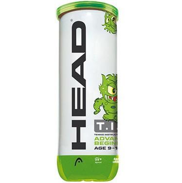 Детские мячи для тенниса HEAD TIP green, 3 мяча в упаковке