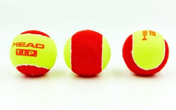 Детские мячи для тенниса HEAD TIP red, 3 мяча в упаковке