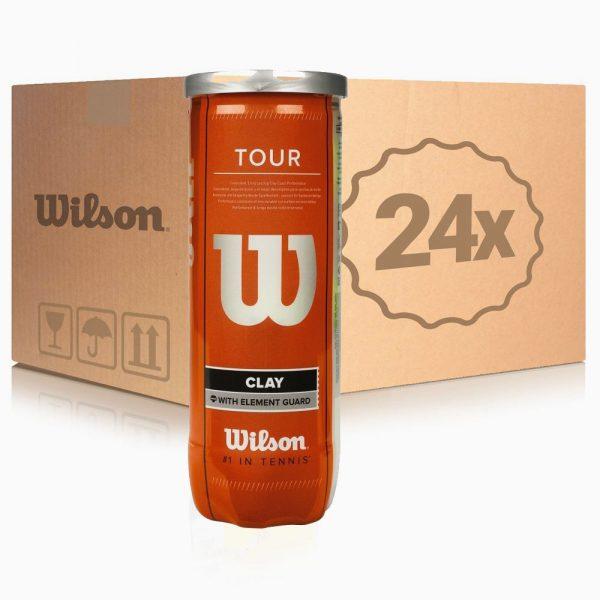 Мячи для тенниса Wilson TOUR CLAY ящик 24 банки (72 шт.)