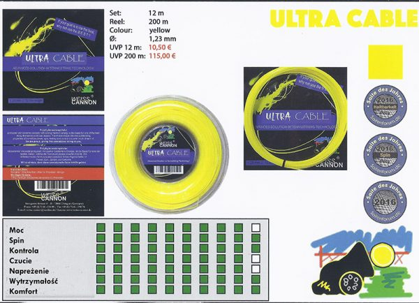 Струна для тенниса Weiss Cannon Ultra Cable