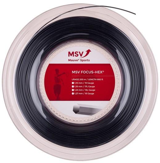Струны для тенниса MSV FOCUS HEX Black