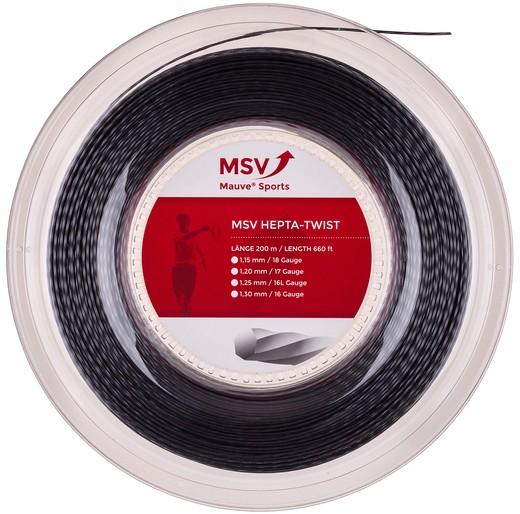 Струны для тенниса MSV HEPTA-TWIST Black