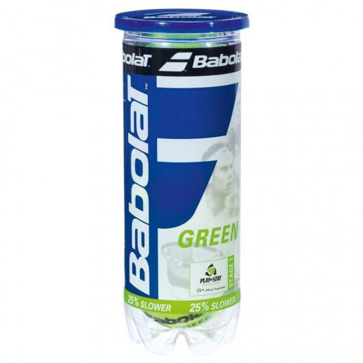 Мячи теннисные Babolat GREEN X3 (Банка ,3 штуки)