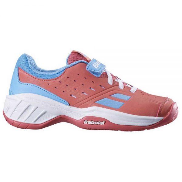 Кроссовки детские Babolat PULSION ALL COURT KID  Pink/Sky blue