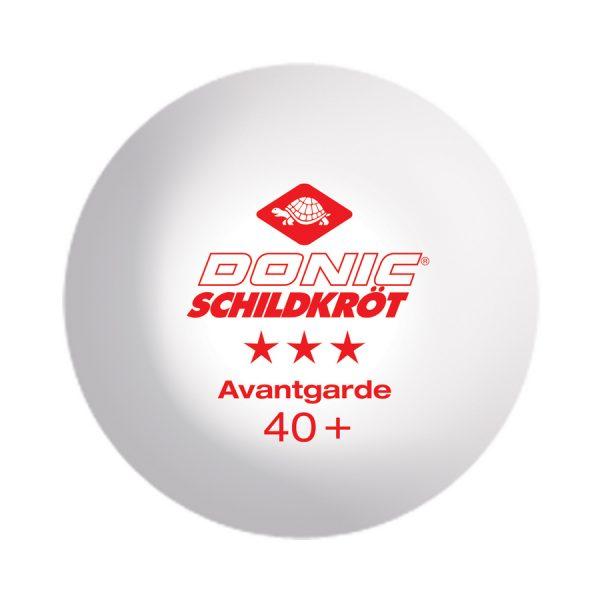Donic Avantgarde 3* 40+ White (3шт.)