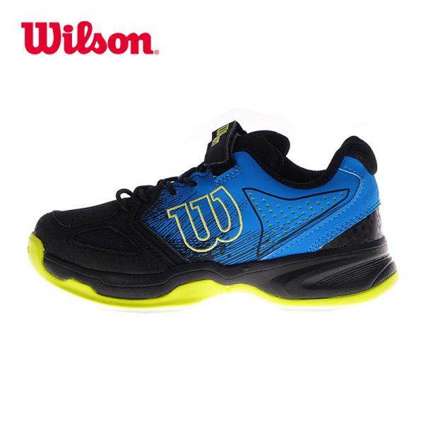 Кроссовки детские Wilson STROKE K Junior Blue/Black/Lime
